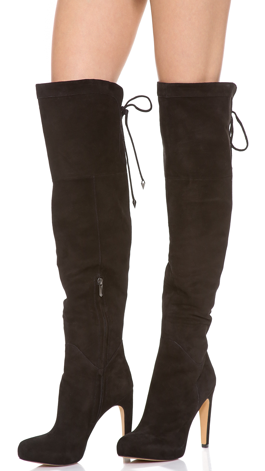 Sam edelman Kayla Over The Knee Boots in Black | Lyst