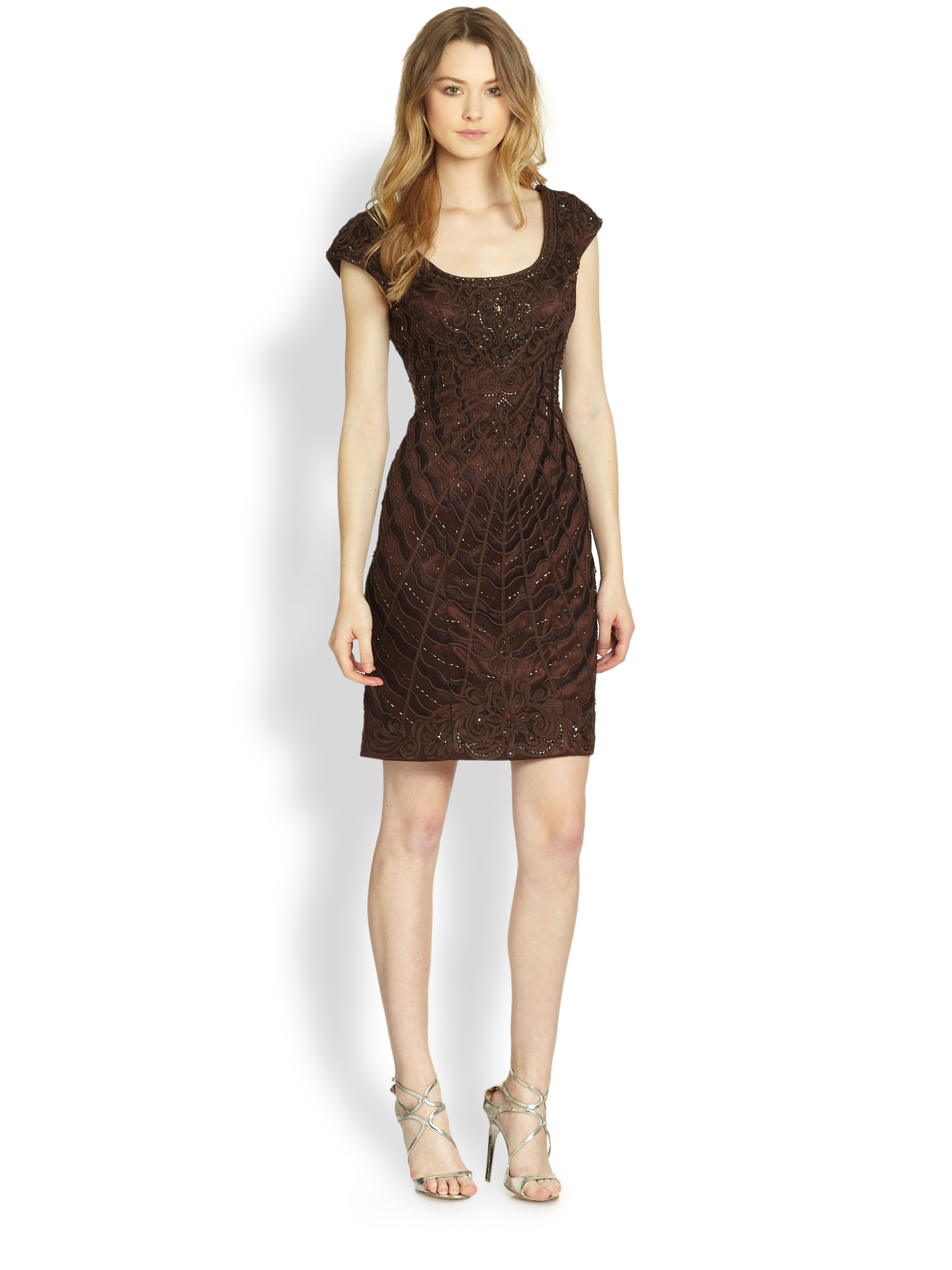 Brown Cocktail Dress Dress Yp