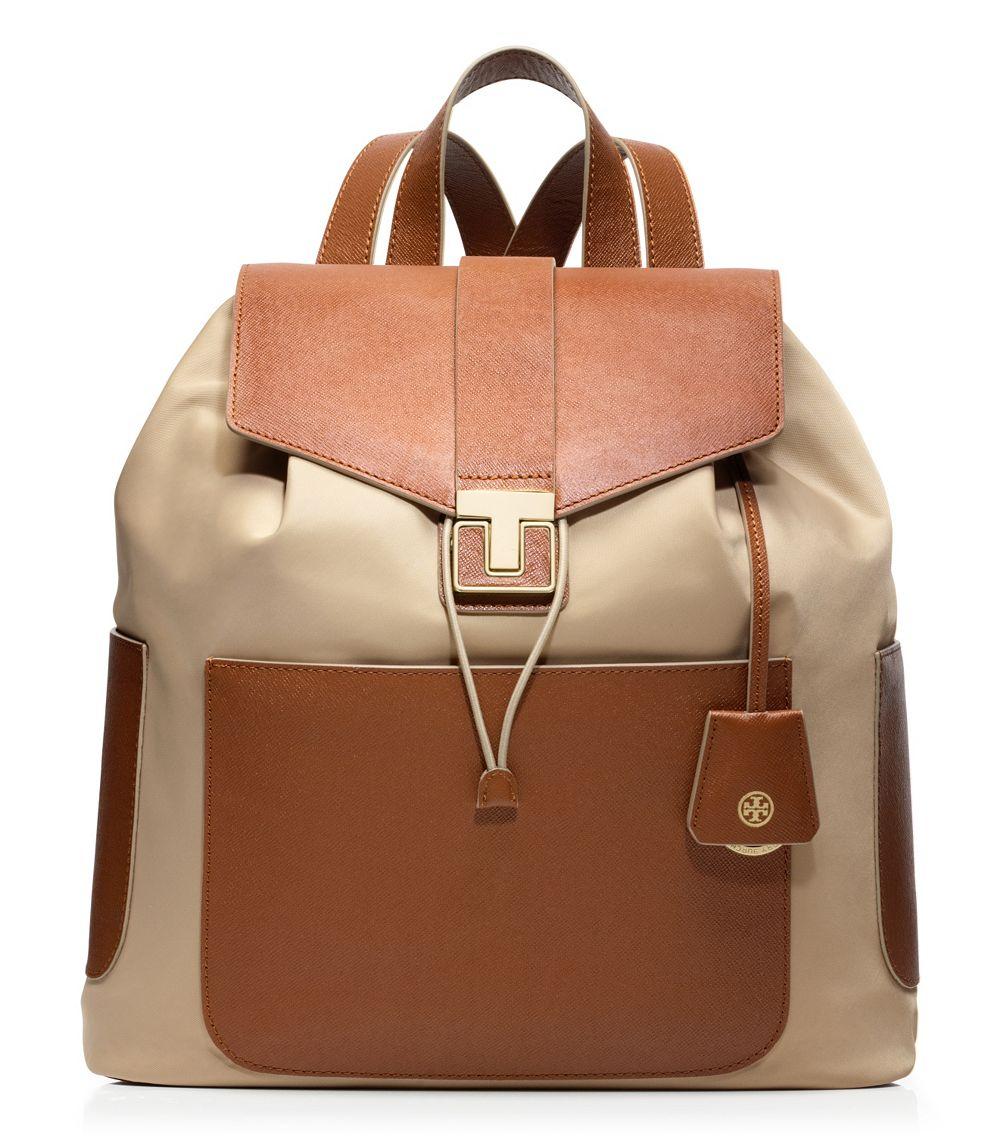 Lyst - Tory Burch Penn Backpack in Natural 067a65e8f9b31