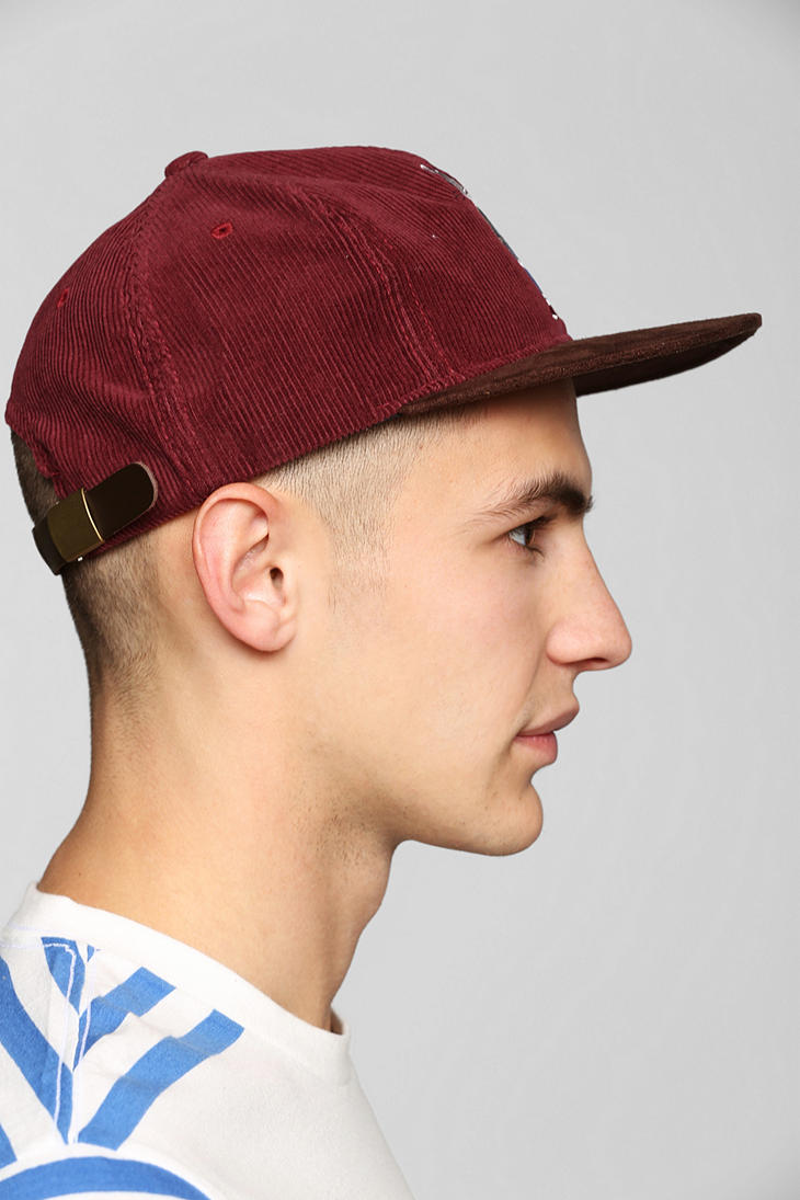 Lyst - Urban Outfitters Stussy Rat Corduroy Snapback Hat in Red for Men 2708a440dc0