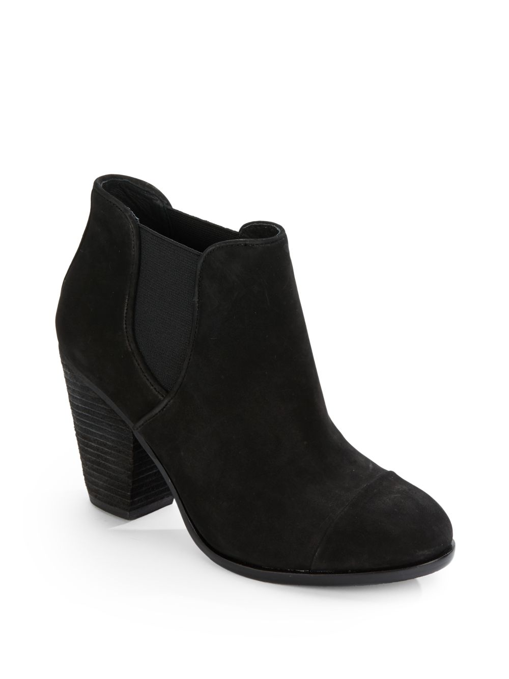 vince camuto hame leather ankle boots in black lyst