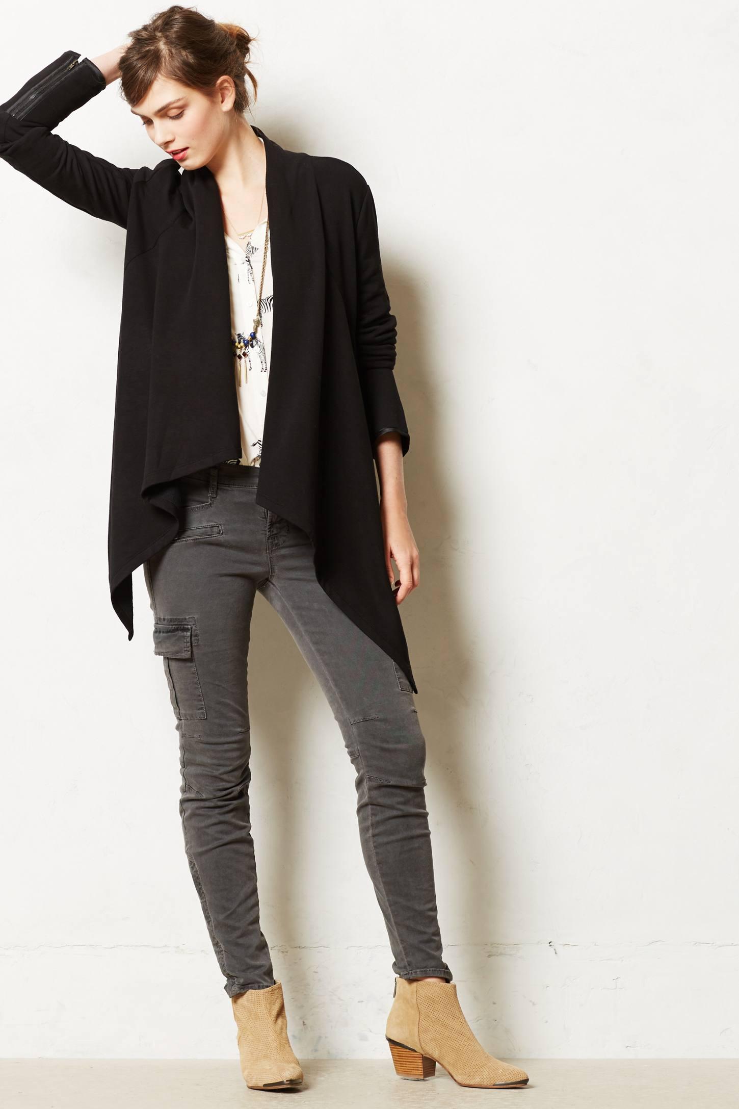 Bordeaux Kinsey Fleece Cardigan in Black | Lyst