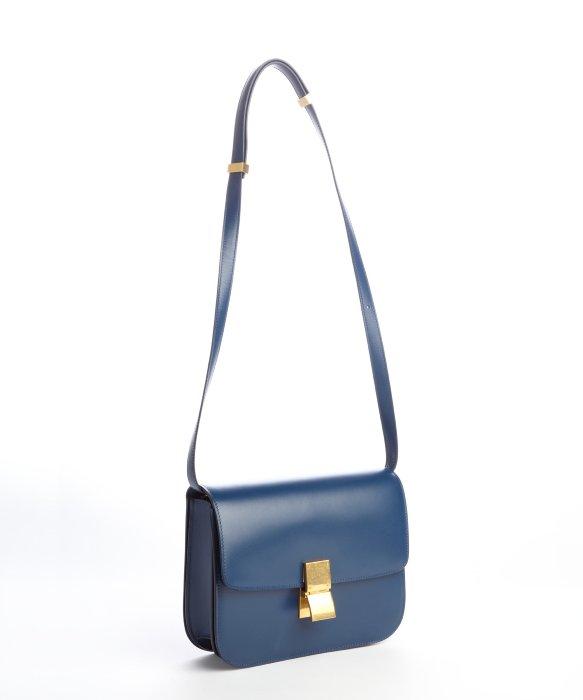 C¨¦line Blue Classic Box Shoulder Bag in Blue | Lyst
