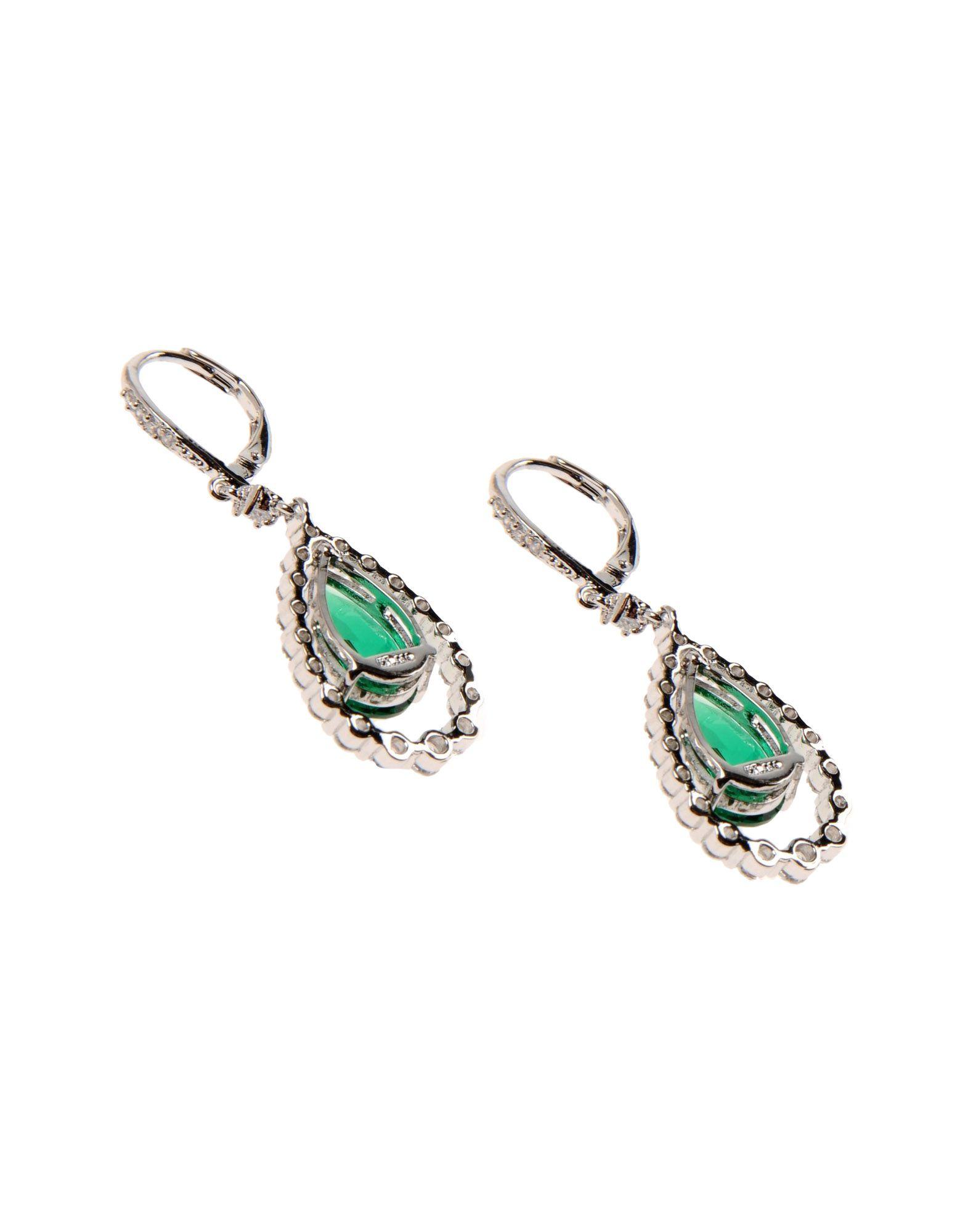 cz by kenneth jay lane earrings in green lyst. Black Bedroom Furniture Sets. Home Design Ideas