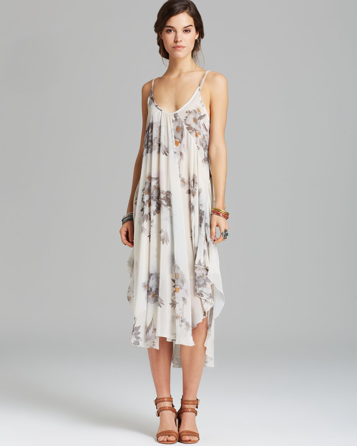 Lyst Free People Slip Dress Waterfalls Floral In Natural