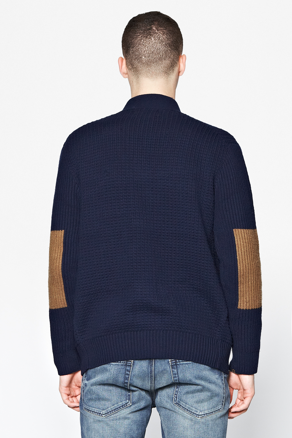 French connection Fisherman Rib Colour Block Cardigan in ...