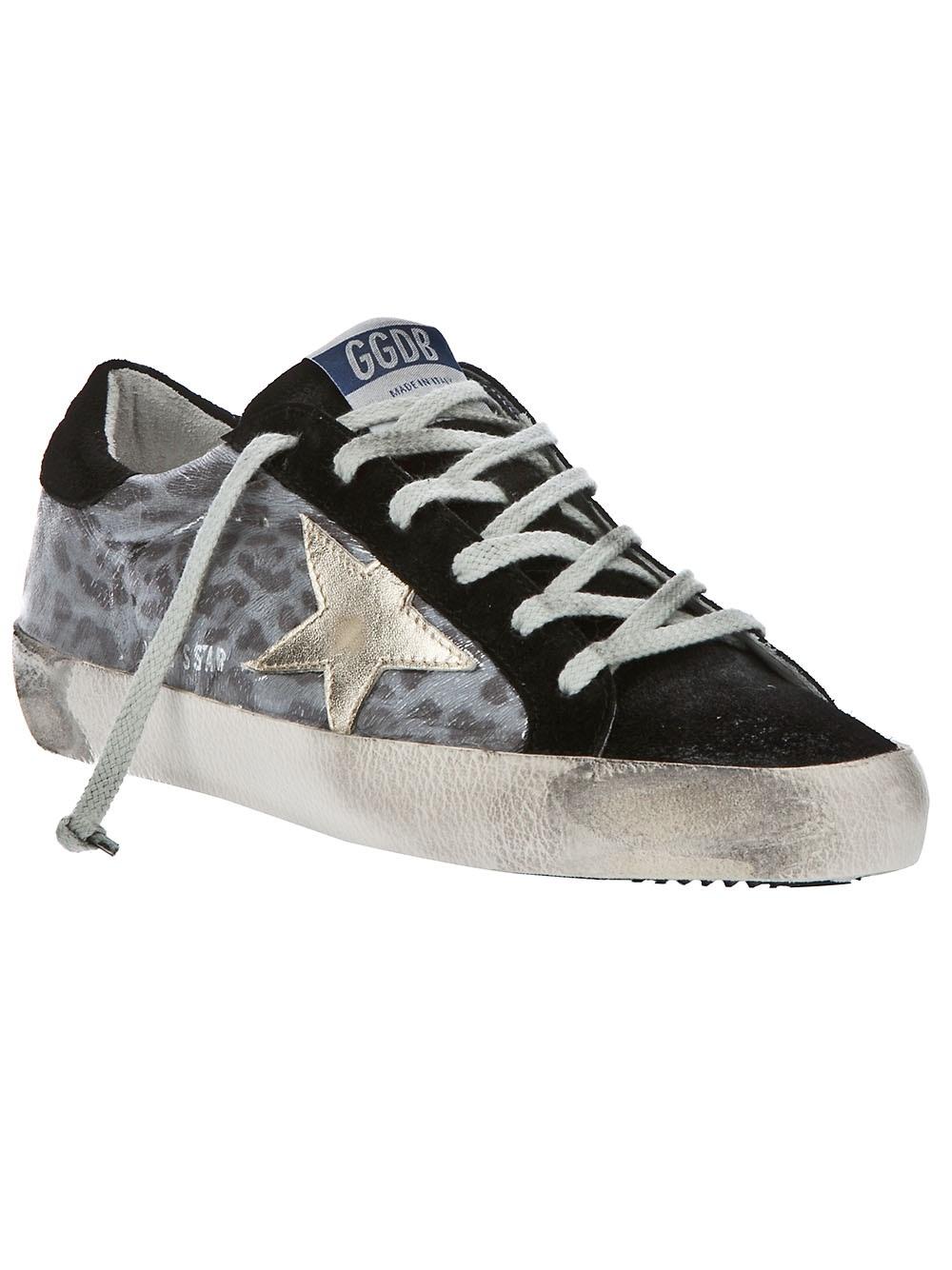 Golden Goose Deluxe Brand Leopard Print Sneaker In Gray Lyst