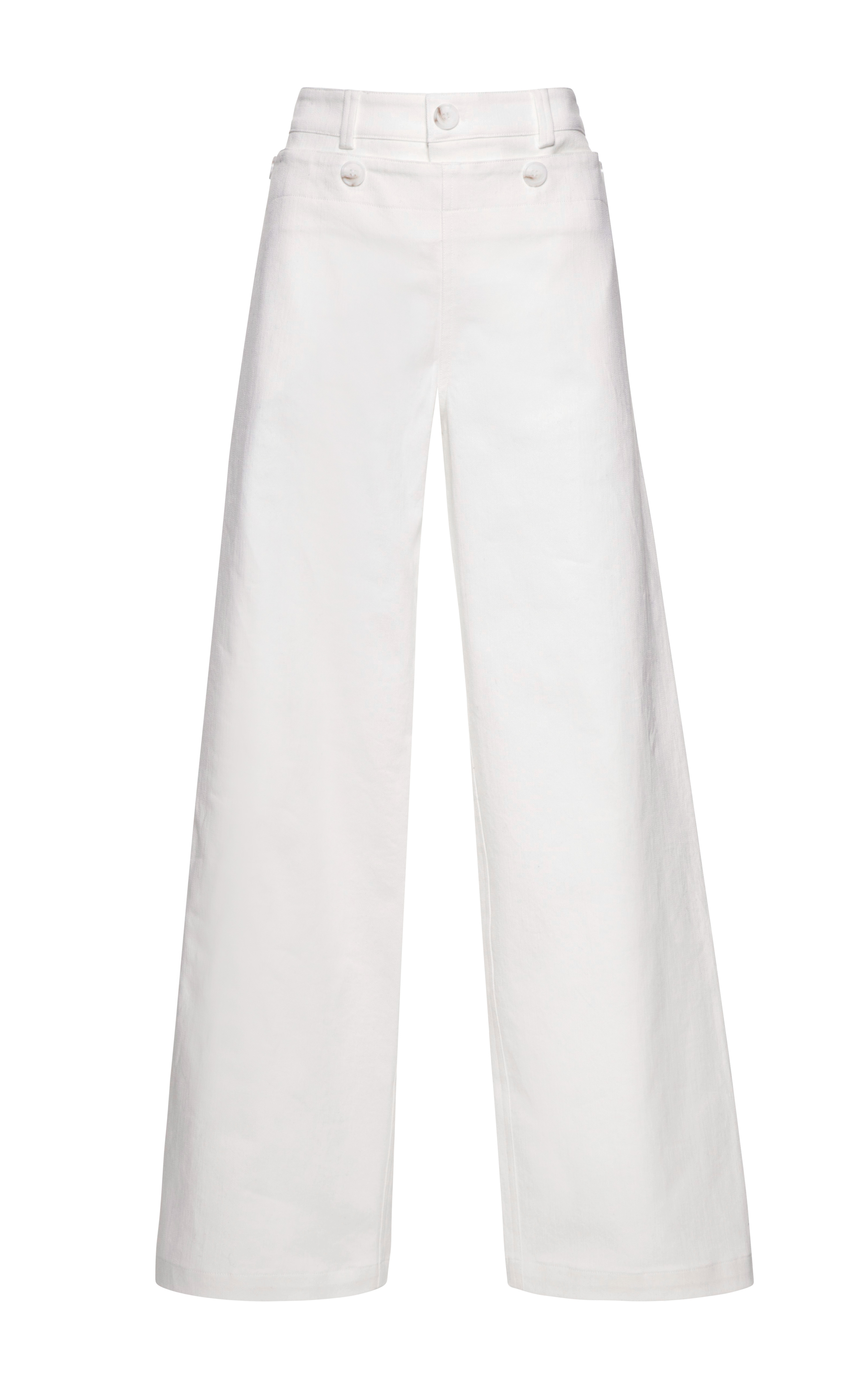 Harvey faircloth Wideleg Denim Sailor Pants in White | Lyst