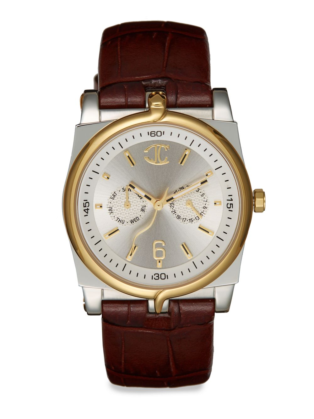 just cavalli ular stainless steel leather in