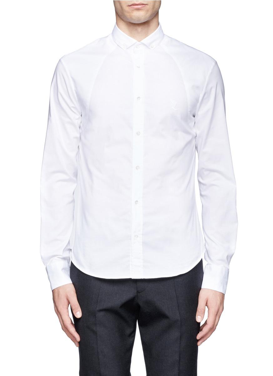 Mcq by alexander mcqueen cotton shirt in white for men lyst for Alexander mcqueen shirt men