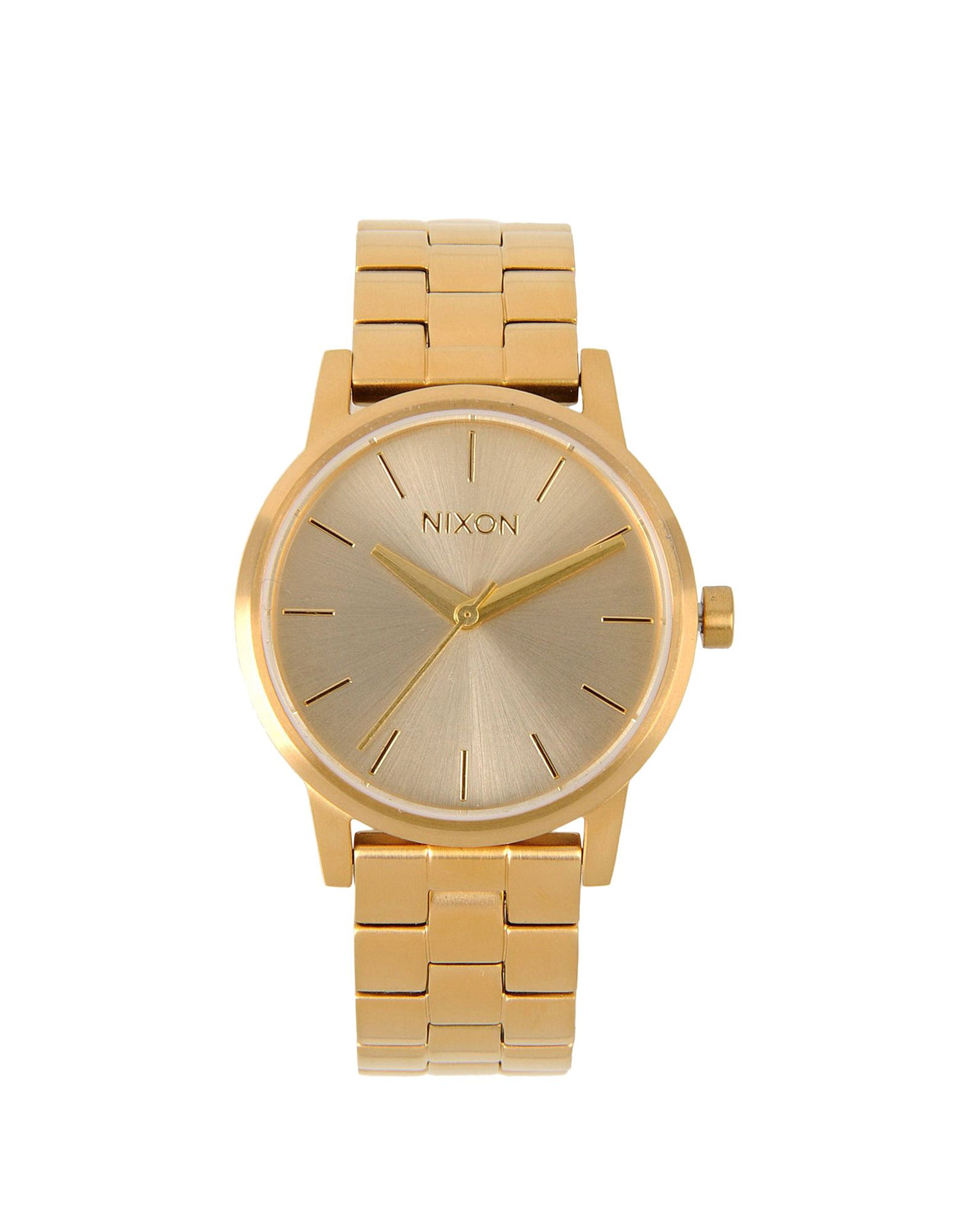 Nixon wrist watches in gold lyst for Watches gold
