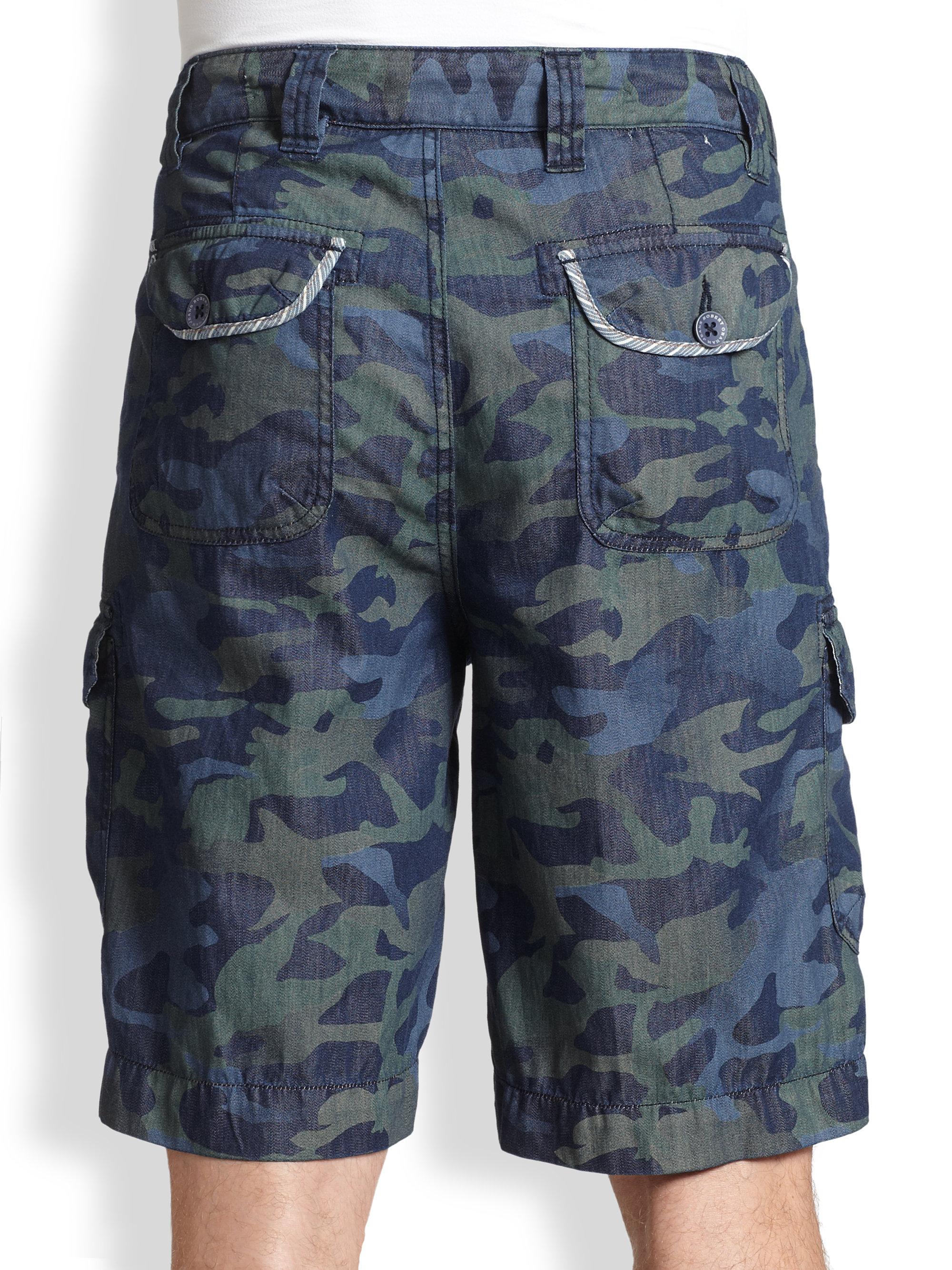 Lyst Robert Graham Weldersere Camo Shorts In Blue For Men