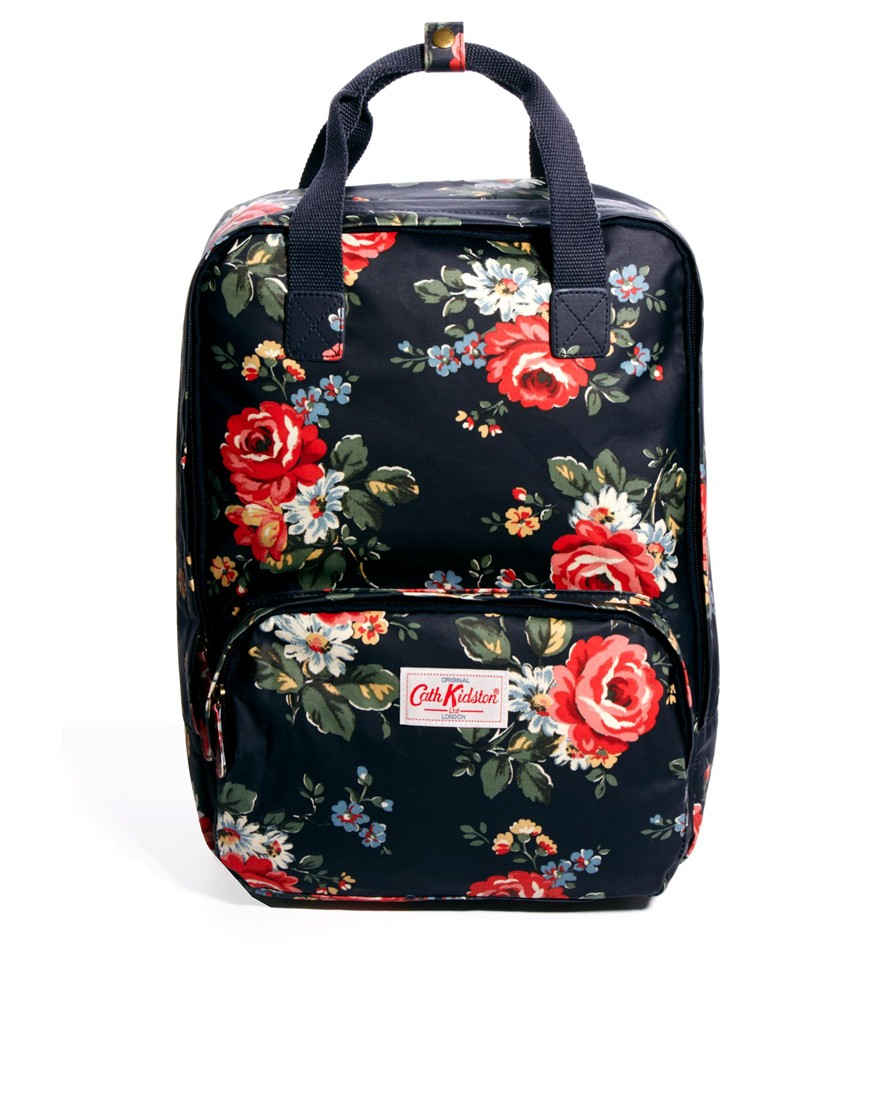 seafolly cath kidston kentish rose backpack in blue navy