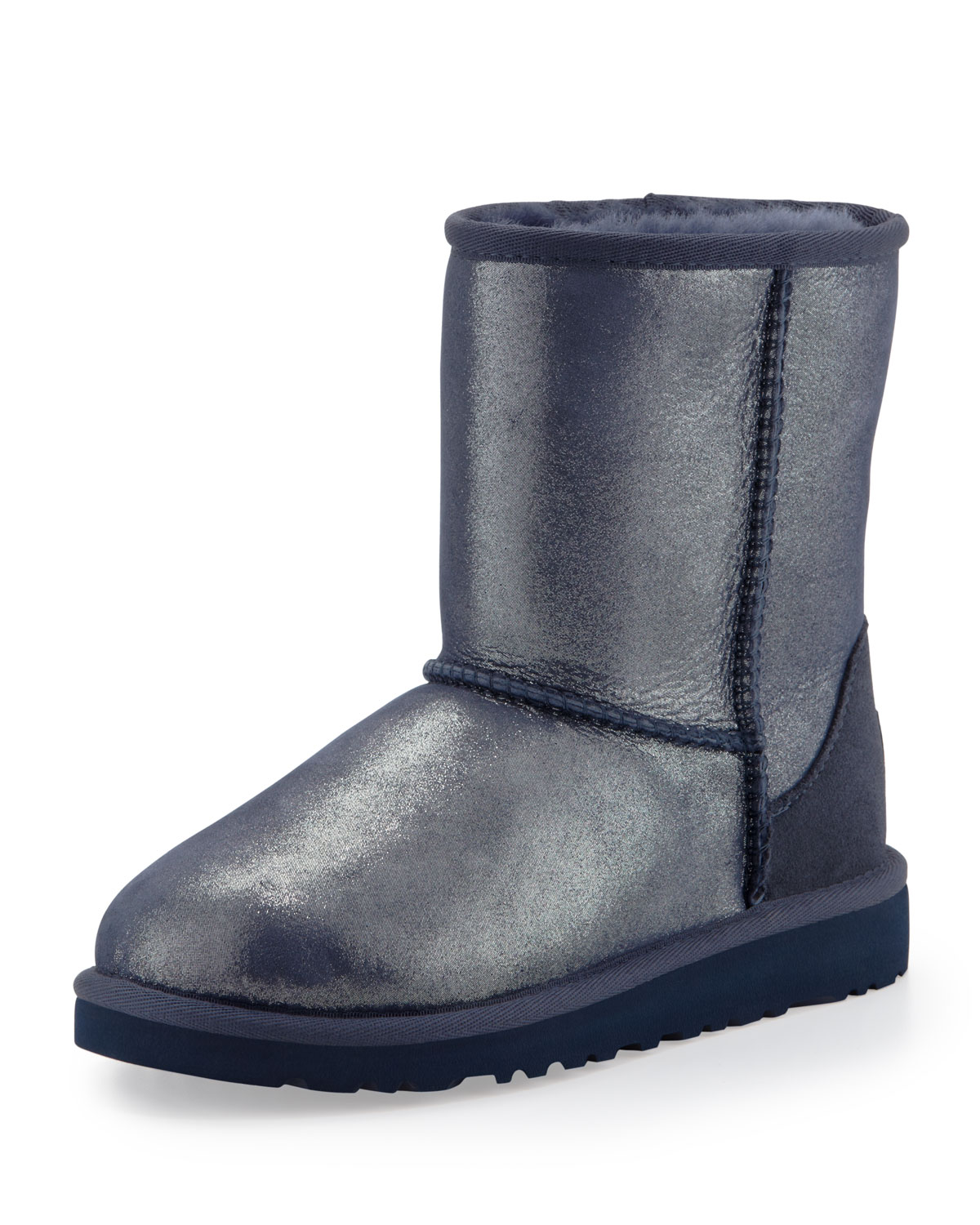 ugg classic glitter boot youth in blue midnight blue lyst. Black Bedroom Furniture Sets. Home Design Ideas