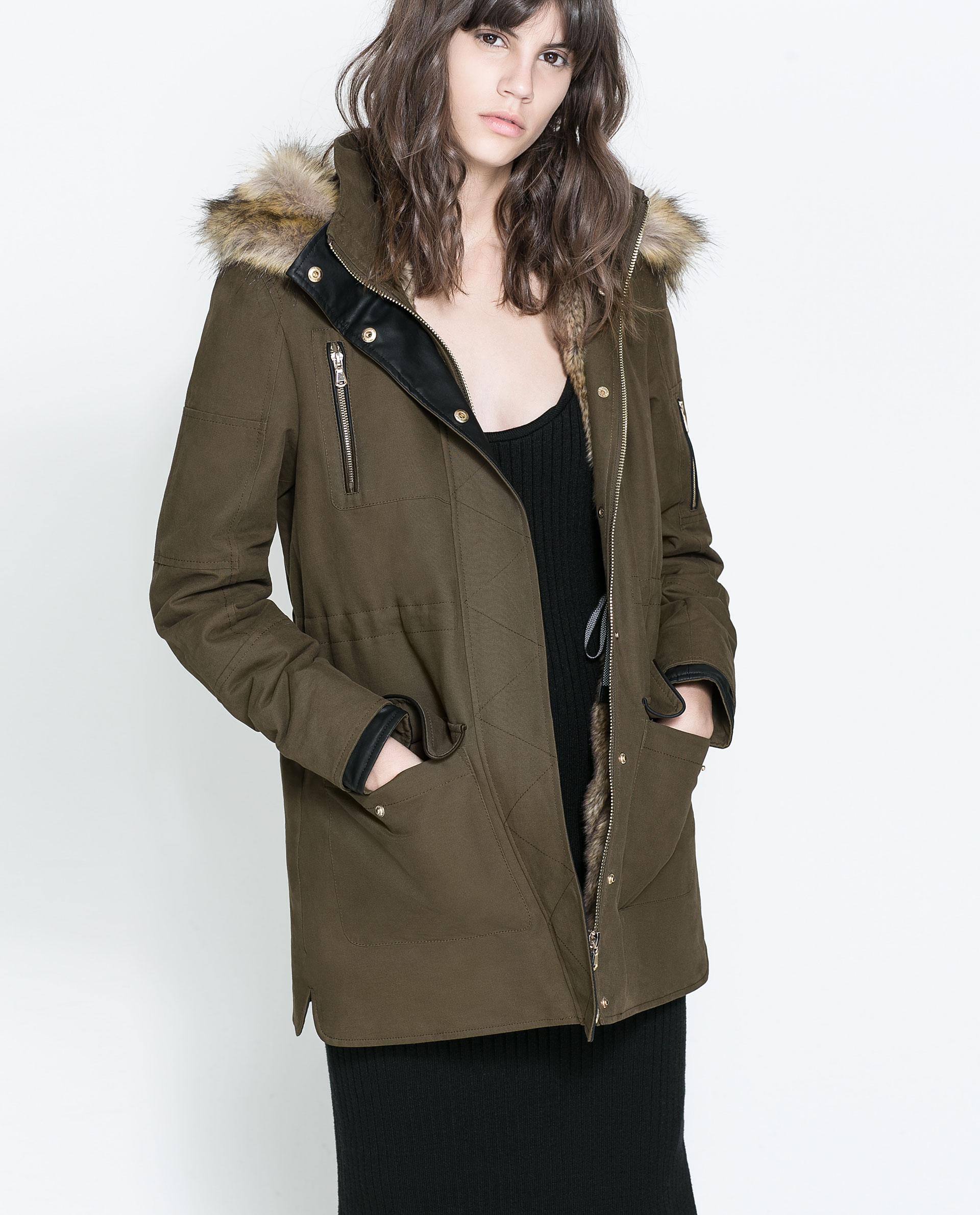 Parka coats for women zara