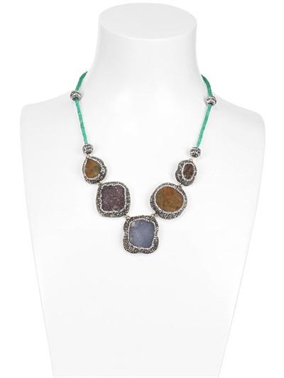 Aamaya By Priyanka Statement Necklace in Blue
