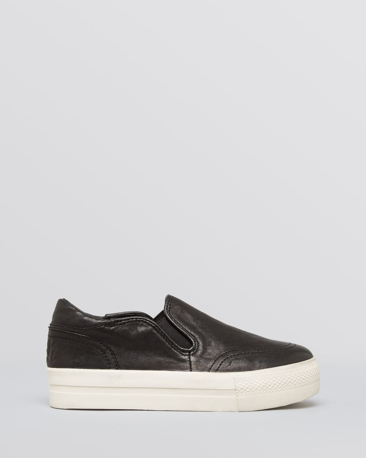 Ash Leather Slip On Sneakers - Jungle in Black