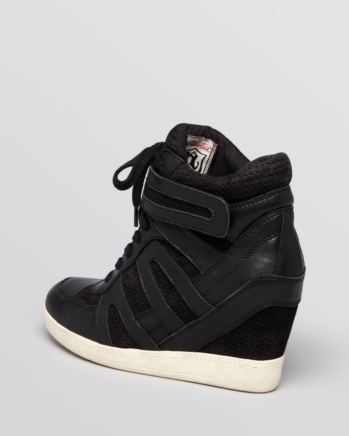 ash lace up wedge sneakers beck bis in black lyst