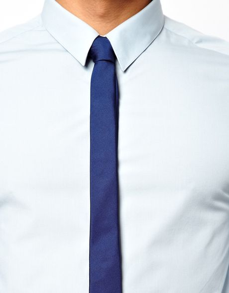 asos smart shirt and tie set save 15 in blue for lyst