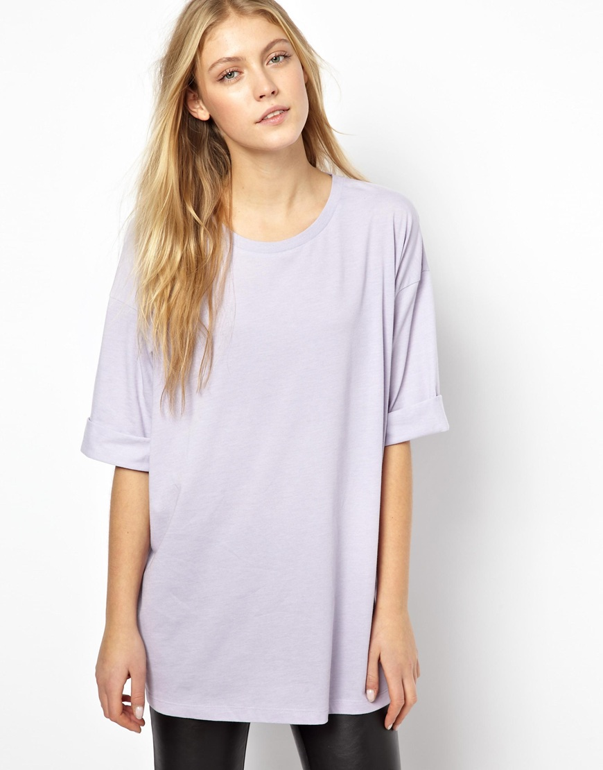 Asos Oversized T-shirt in Purple (Lilac) | Lyst