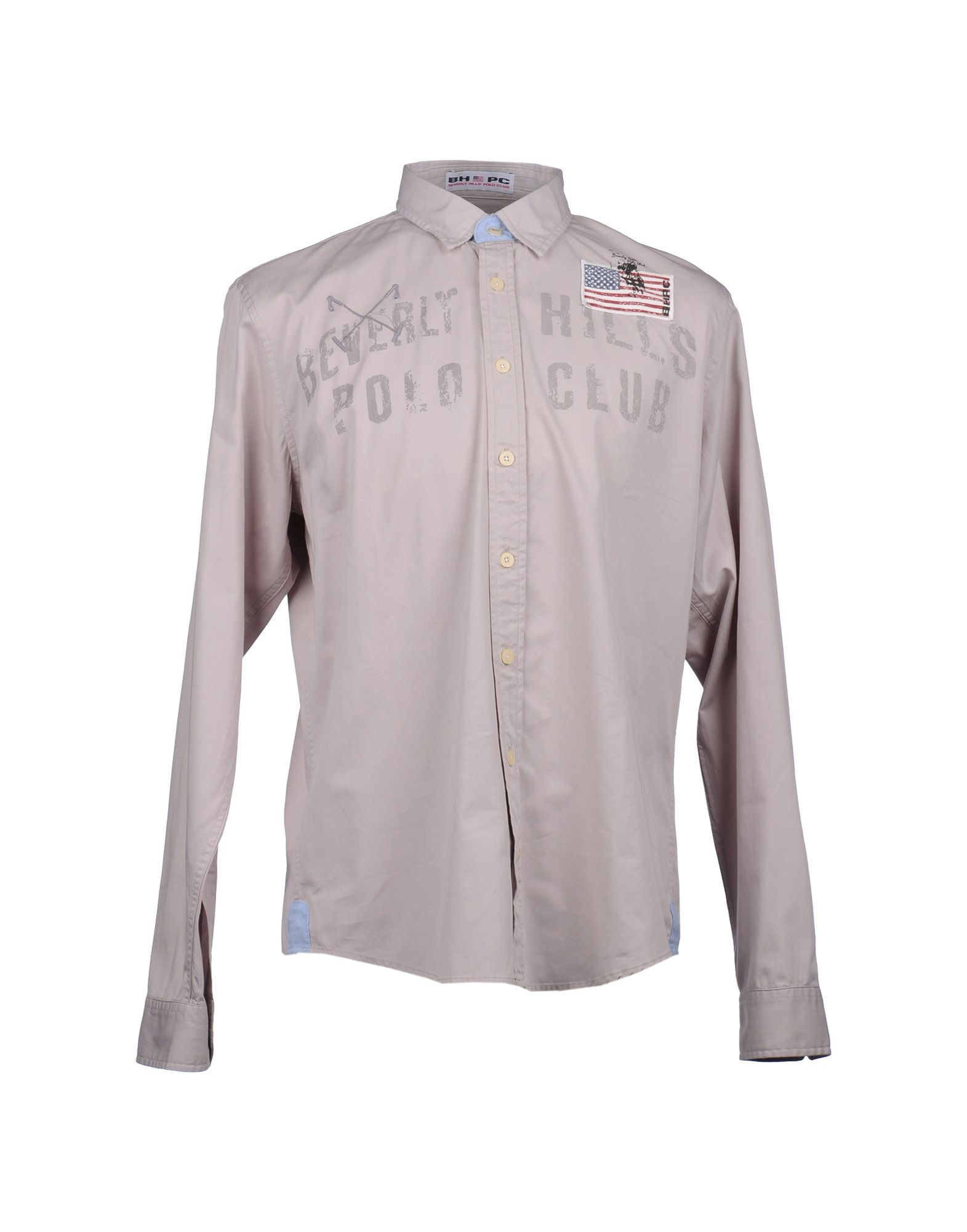 Beverly Hills Polo Club Long Sleeve Shirt In Gray For Men