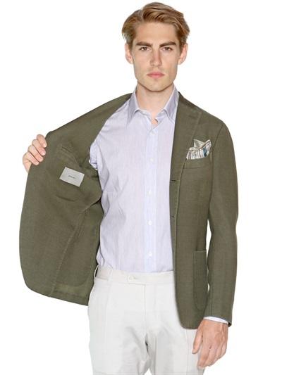Boglioli Woolmohair Blend K Jacket in Olive Green (Green) for Men