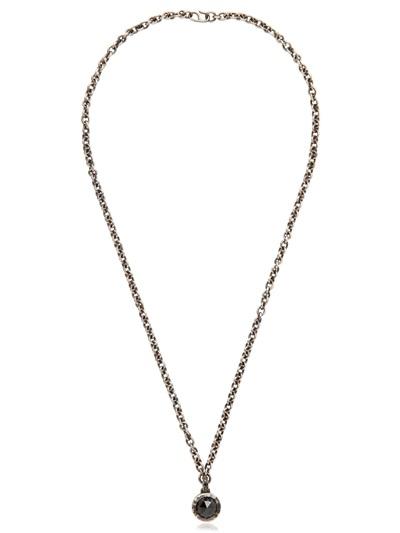 Bonato milano 1960 Black Diamond Necklace in Black for Men