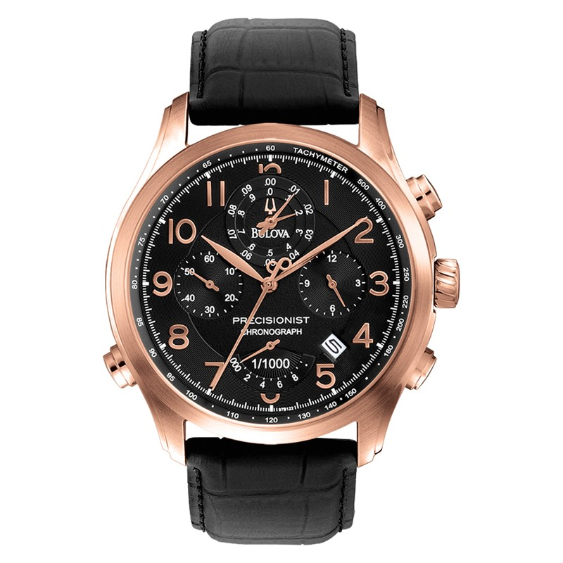 Lyst Bulova 97b122 Precisionist Chrono Leather Mens
