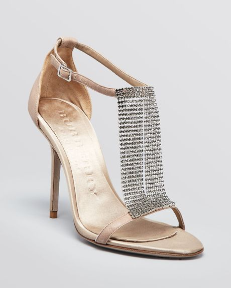 burberry evening sandals margave high heel in beige sand