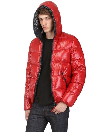 huge inventory b4beb bf36d Men's Red Dionisio Shiny Nylon Down Jacket