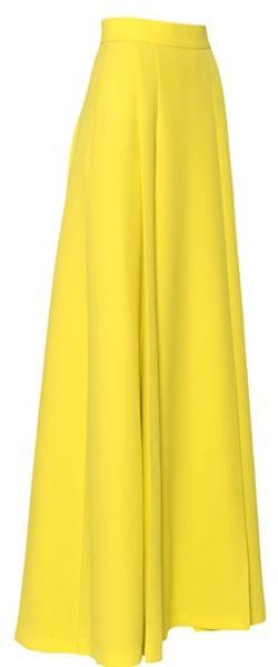 High Waisted Yellow Skirt 41