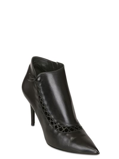 Ferragamo 85mm Ruthy Calfskin Pointed Boots in Black