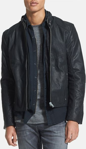 star Raw Hermand Leather Moto Jacket in Black for Men | Lyst