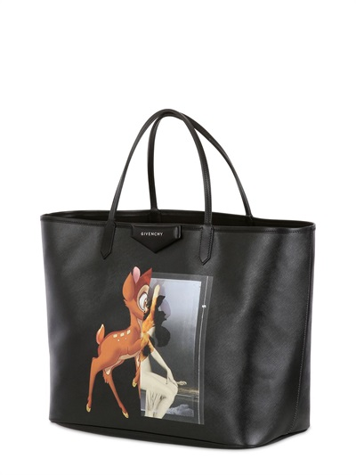 Givenchy Coated Canvas Bambi Tote Bag in Black