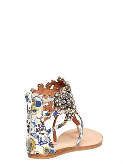 Jeffrey Campbell Prizzy Canvas Jeweled Flats Lyst