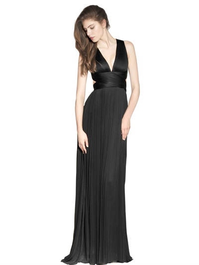 Maria Lucia Hohan Silk Tulle Long Dress In Black Lyst