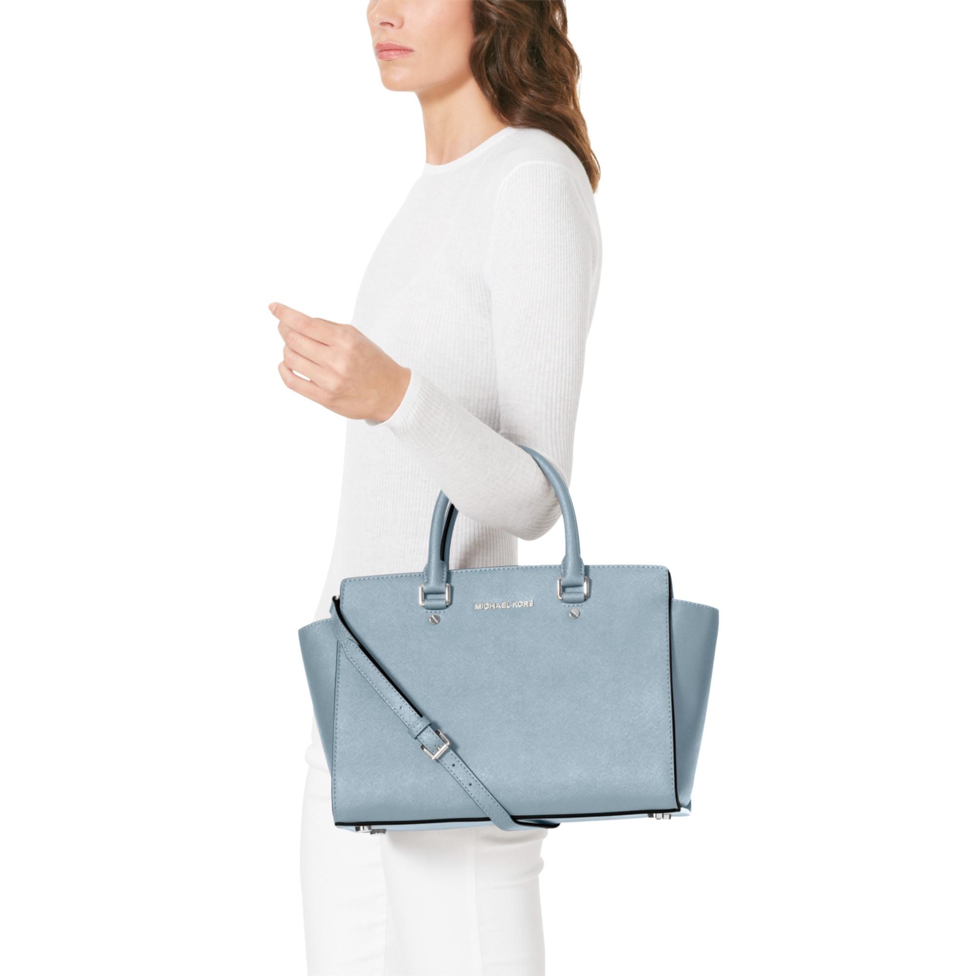 MICHAEL Michael Kors Selma Large Tote Bag in Powder Blue (Blue)