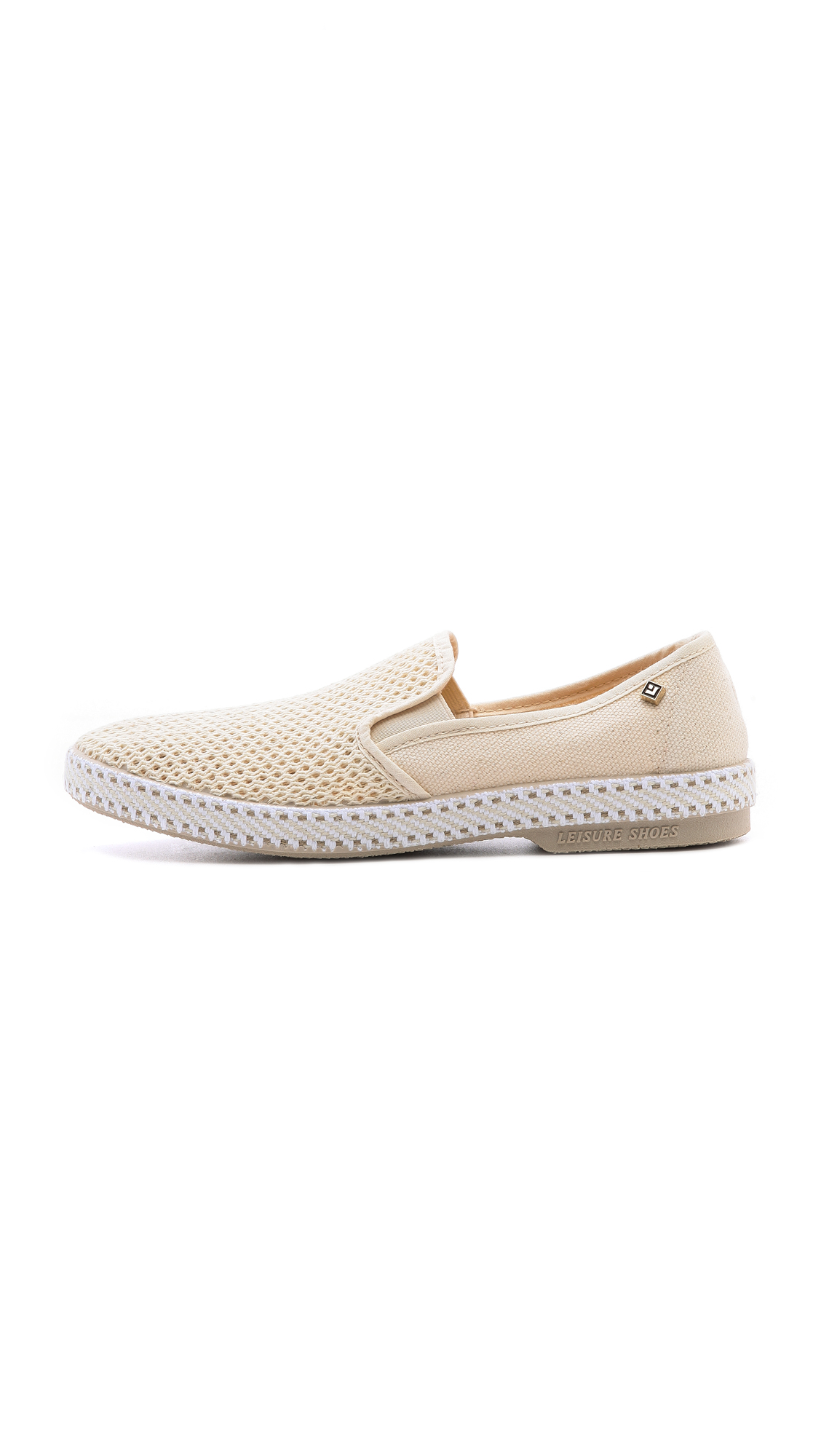 rivieras classic slip on sneakers in lyst