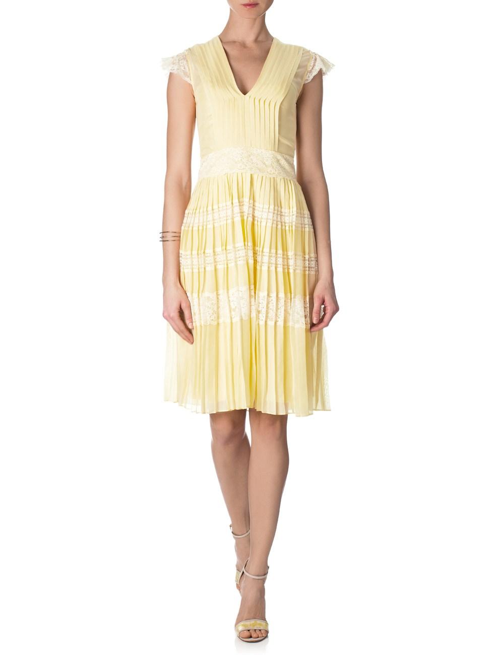 yellow lace dress 2013