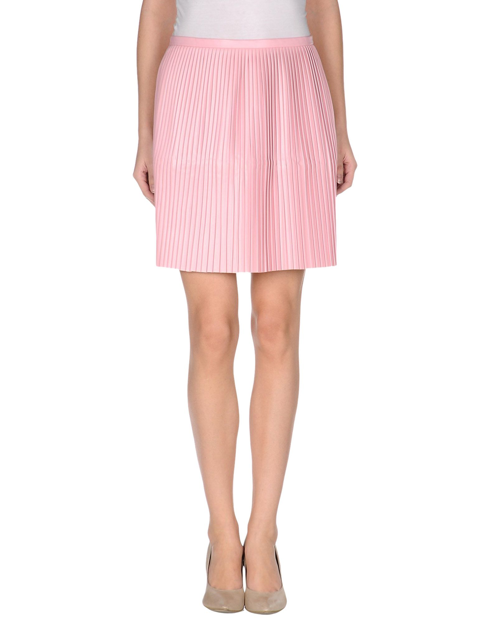 tibi knee length skirt in pink lyst