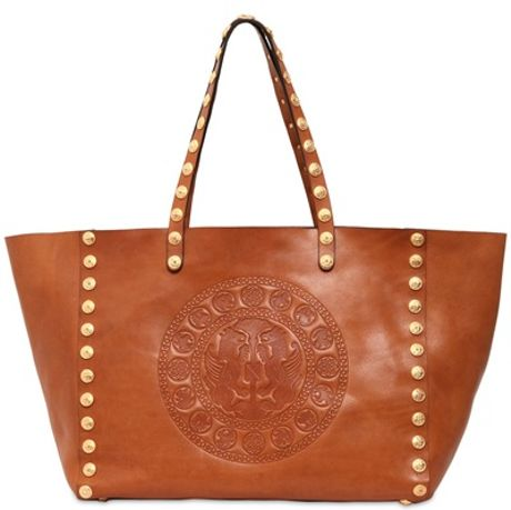 Brown Studded Shoulder Bag 52