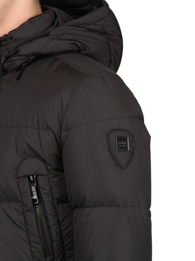 Add Techno Quilted Nylon Down Jacket in Black for Men