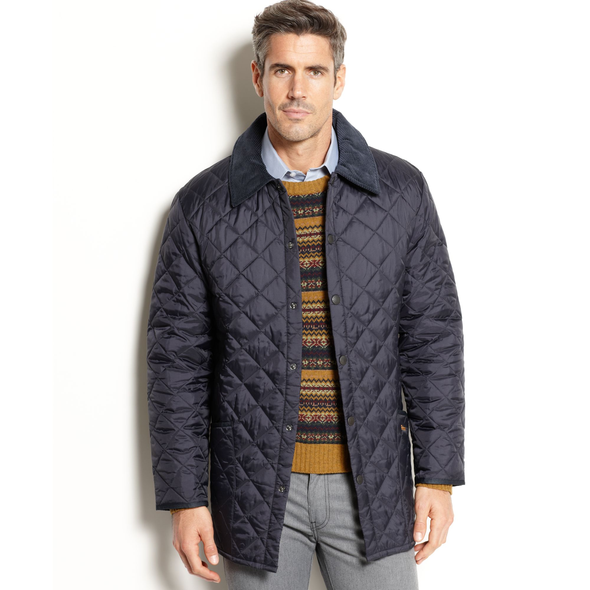 Lyst Barbour Barbour Liddesdale Quilted Jacket In Blue For Men