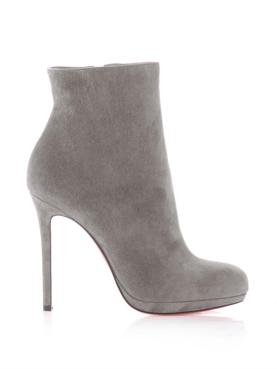 Lyst Christian Louboutin Bootylili 120mm Suede Ankle