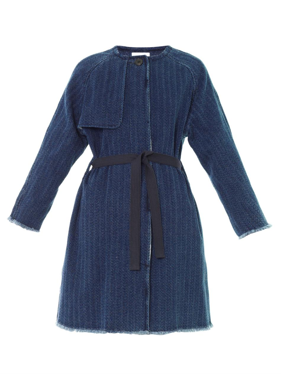 Étoile isabel marant Fany Denim Coat in Blue | Lyst