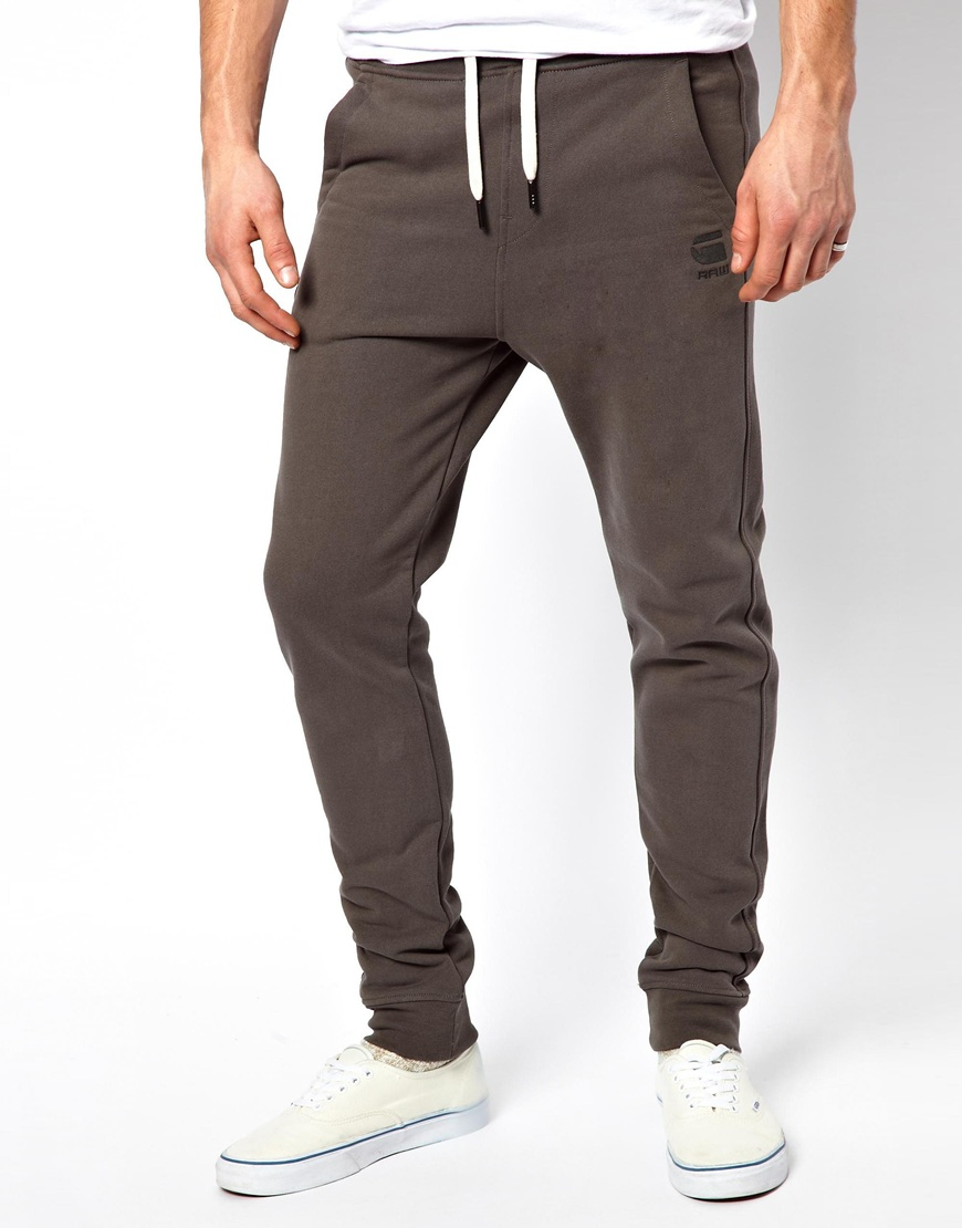 lyst g star raw g star sweat pants raw tapered in brown. Black Bedroom Furniture Sets. Home Design Ideas