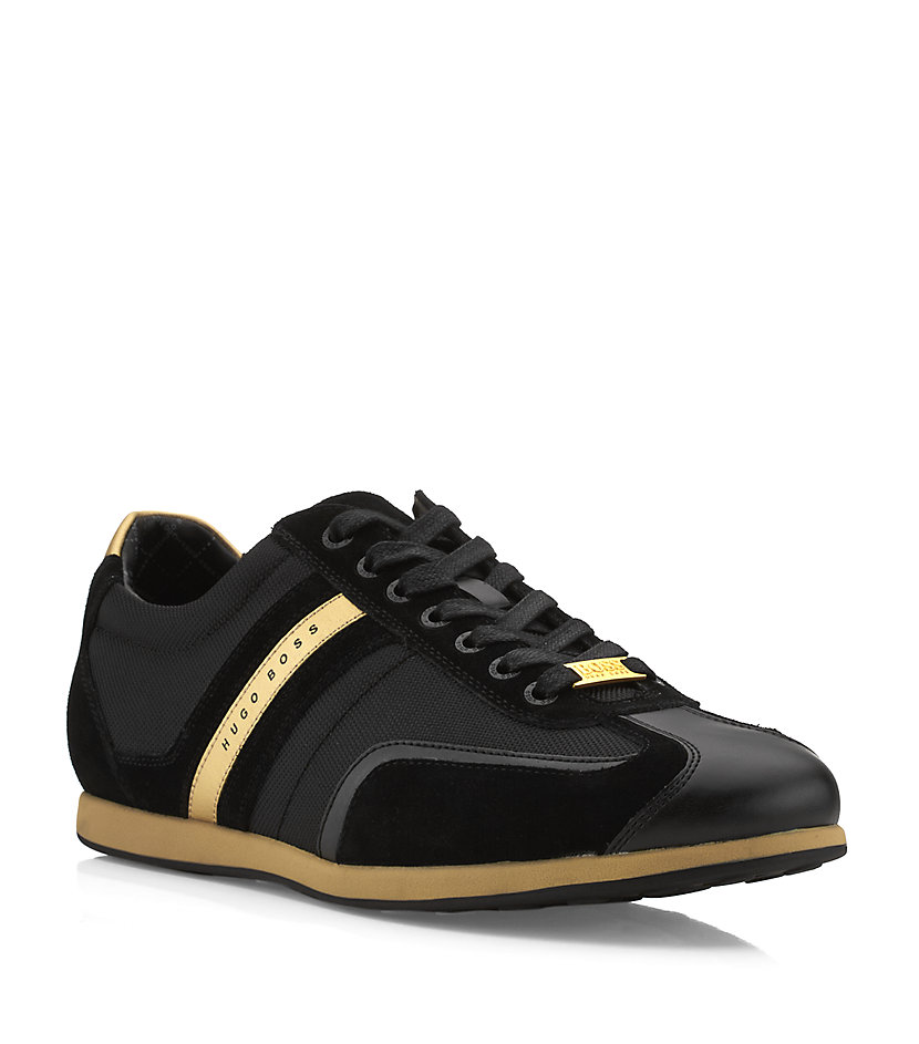 hugo boss streametal sneaker in black for men green pictures to pin on. Black Bedroom Furniture Sets. Home Design Ideas
