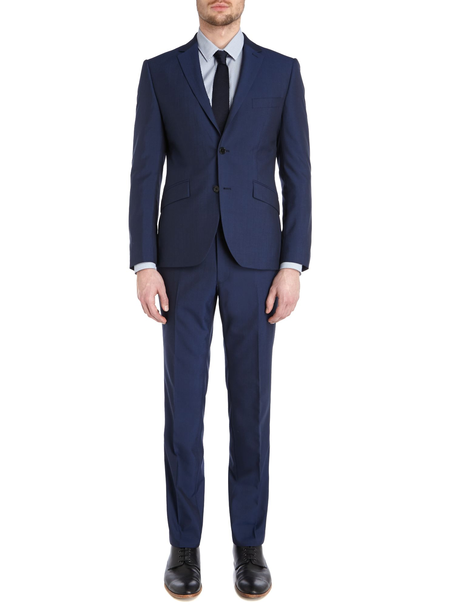Kenneth Cole Wool Starkin Slim Fit Notch Lapel Suit Jacket in Electric Blue (Blue) for Men