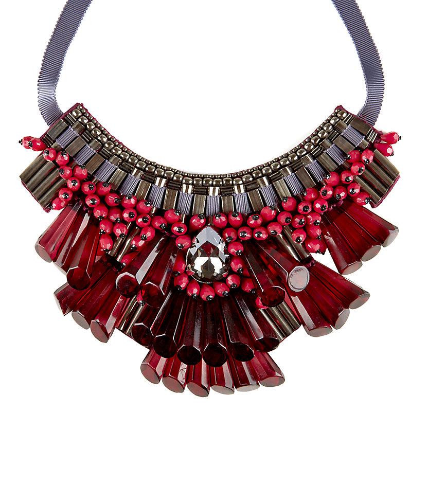 Matthew williamson Opulent Beaded Necklace in Red