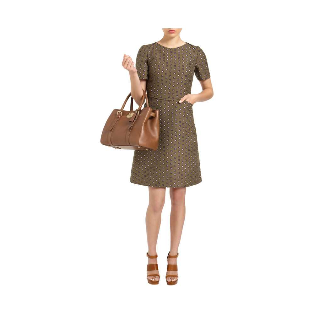 Lyst mulberry bayswater double zip tote in brown for The bayswater
